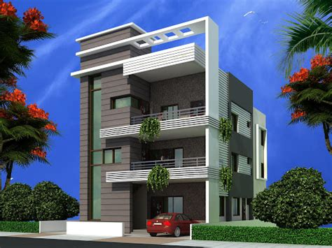 House Designs And Floor Plans In Nigeria Triplex House Design Apnaghar House Design Page 5