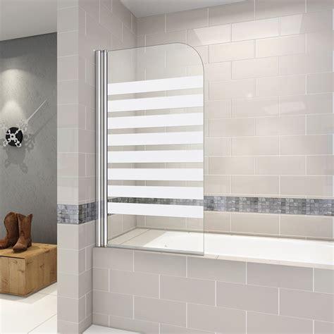 wannen duschwand 80cm duschabtrennung nano glas badewannenaufsatz