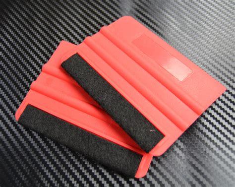 Essentials For Applying Vinyl - 2x felt squeegees carbon fibre vinyl car wrap decal