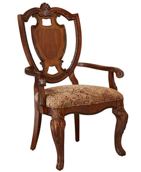 wheatmore manor upholstered arm chair royal manor dining chair arm chair furniture macy s