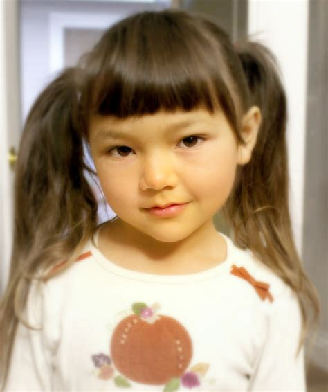 Side Ponytail Child | traditional chinese children s hairstyle two buns on the
