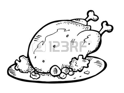 roast chicken coloring page cooked chicken leg clipart panda free clipart images