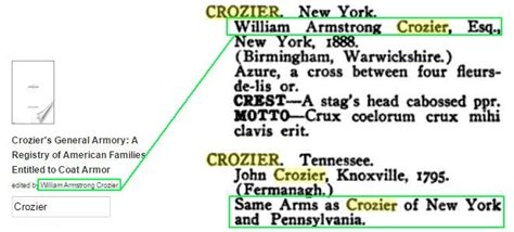 crozier s general armory a registry of american families entitled to coat armor classic reprint books crozier motto clan crozier