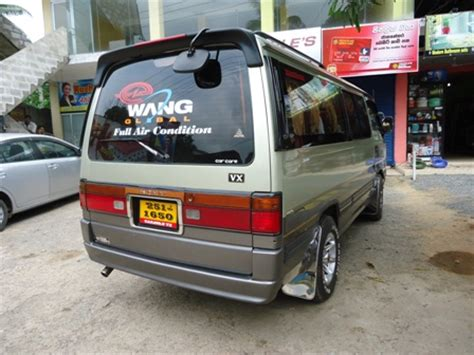 nissan caravan vx modified ruchi cabs rent a car sri lanka sri lanka car hire