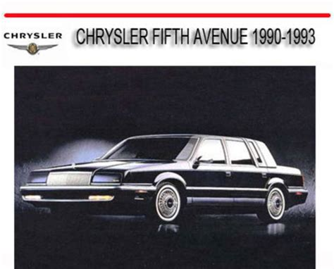manual repair free 1993 chrysler fifth ave electronic throttle control chrysler fifth avenue 1990 1993 repair service manual download ma