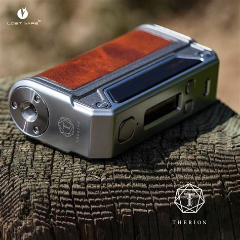 lost vape therion dna 75 dual 18650 leather wrap