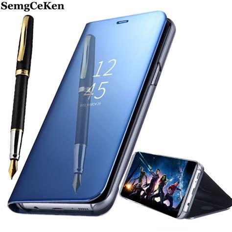 casing samsung note 5 flip cover mirror transparanflip wallet semgceken luxury original stand flip leather phone