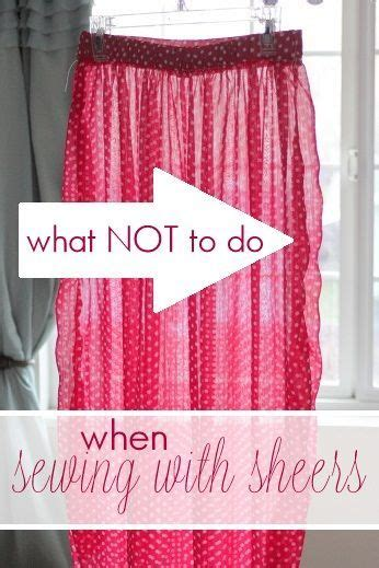 sewing sheer fabric curtains what not to do when sewing with sheers plus 6 tips to help