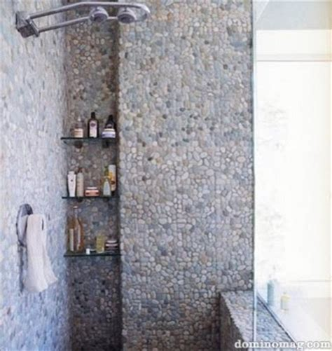 river rock bathroom ideas river rock as tile