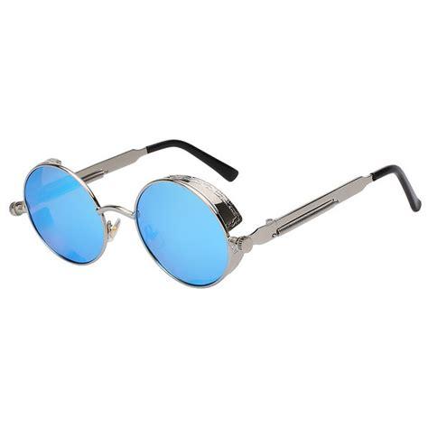 Kacamata Wanita kacamata wanita steunk polarized silver blue