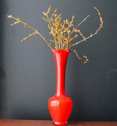 Retro Vases by Mid Century Modern Vase Orange Vase Vintage Glass 60s 70s
