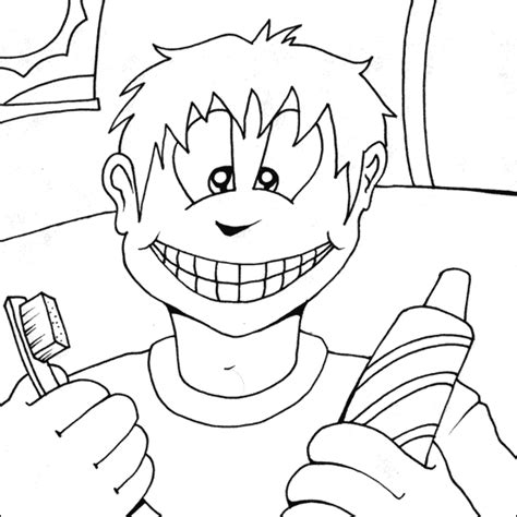 dental coloring printable