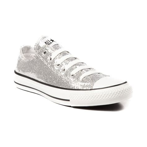 silver converse sneakers converse all lo glitter athletic shoe awesome gear
