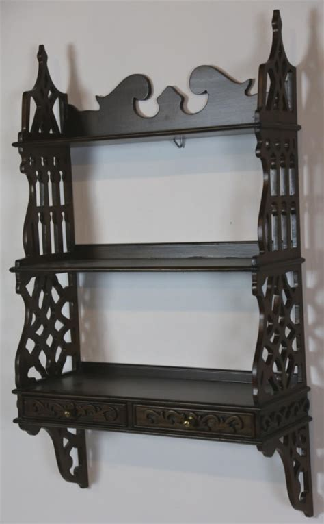 Chippendale Wall Shelf by Chippendale Mahogany Hanging Wall Shelf