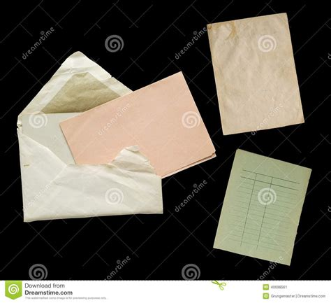 Objects With Paper - vintage paper objects stock photo image 40698561