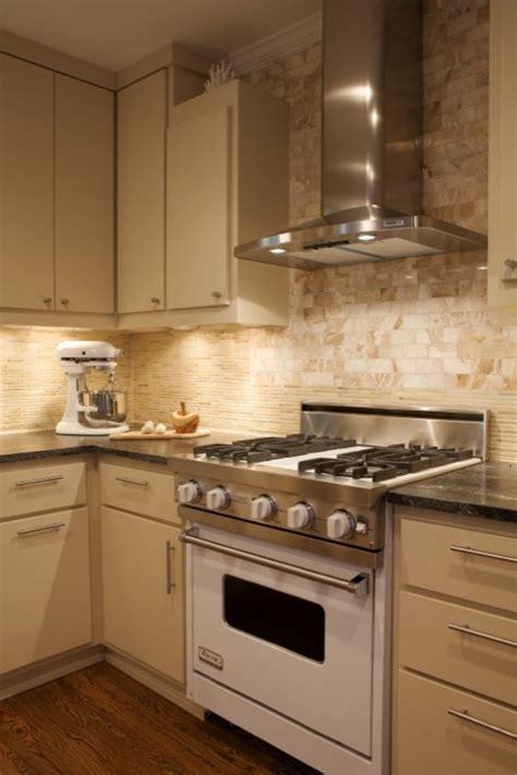 cream cabinets contemporary kitchen heather garrett