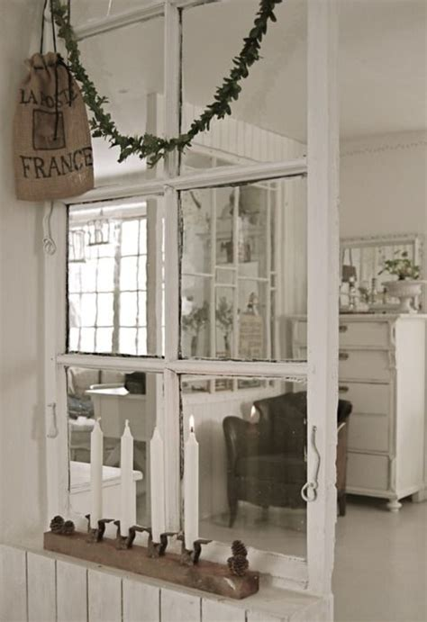 an old window was used as a room divider future house