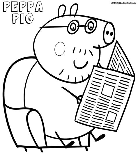 peppa pig coloring pages a4 peppa pig daddy pig coloring pages 383103