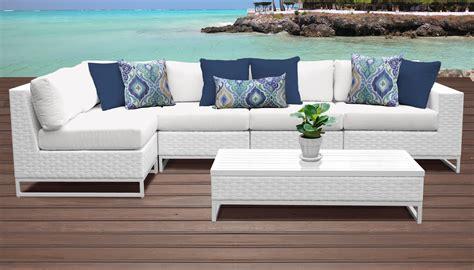 miami  piece outdoor wicker patio furniture set