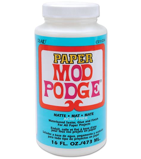 mod podge matte finish mod podge paper matte finish 16oz jo