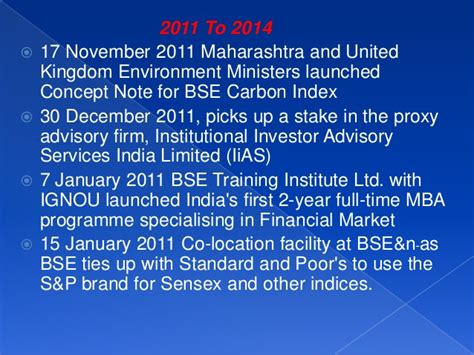Mba In Environmental Management In Maharashtra by Bombay Stock Exchange