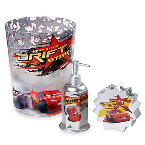 Car Bathroom Accessories Disney Cars Lightning Mcqueen Bath Ensemble Buybuy Baby