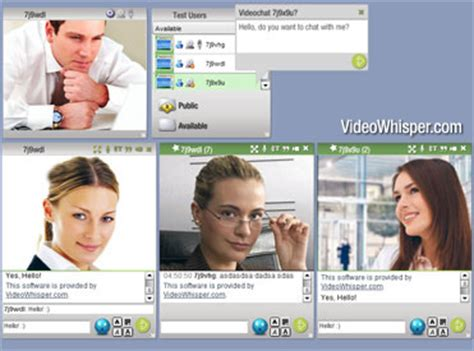 webcam site plugins for video streaming chat conference