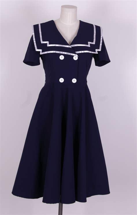 Dress Sailor 1940s 50s sailor dress navy blue sailor 010 163 39 99