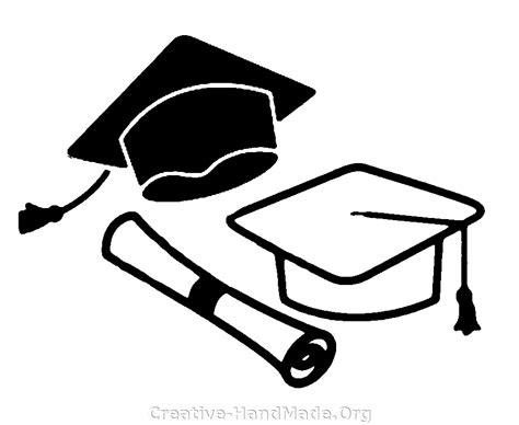 Free Coloring Pages Of Cap And Gown Graduation Cap Coloring Page