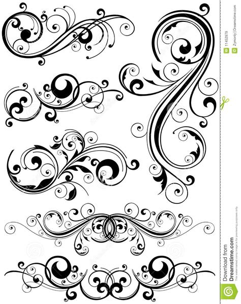 design elements typography floral design elements royalty free stock images image