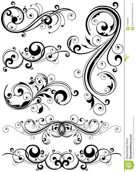 free doodle design elements floral design elements royalty free stock images image
