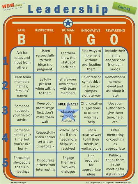 leadership bingo the game based leadership assessment