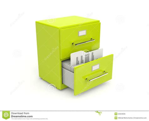 Green archive cabinet icon stock illustration. Image of