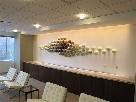 contemporary wall sculpture glass wall sculpture installation bernard katz glass