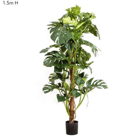 Philo Monstera artificial split leaf philo monstera tree 1 5mt silk trees and plants artificial plants