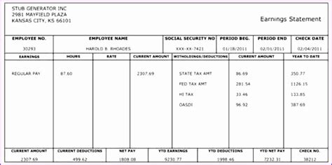 10 Payroll Check Template Excel Exceltemplates Exceltemplates Free Pay Stub Template Word
