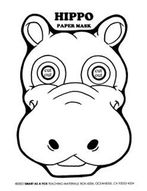 hippo mask template printable coloring hippo mask hippo mask coloring worksheet hippo