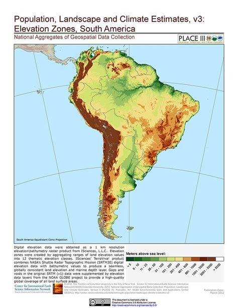 population map of south america maps 187 population landscape and climate estimates place