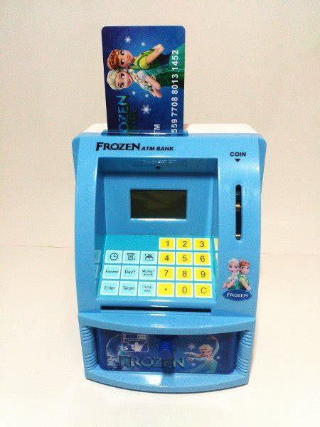 Mini Atm Bank Celengan Anak Uang Kertas Koin Besar jual unikkk celengan atm mini frozen mesin hitung saldo uang kertas dan koin di lapak gians