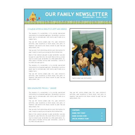word newsletter templates preschool newsletter template microsoft word images