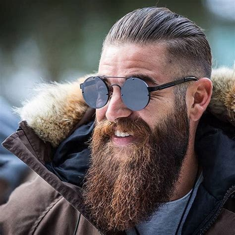 slick back hair and beard cool short hairstyles and beards for men 2017 men s