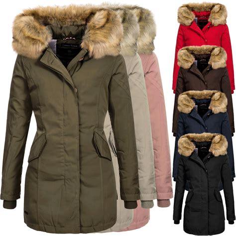 Wintermantel Damen Warm by Marikoo Damen Winterjacke Karmaa Kapuze Gef 252 Ttert Parka