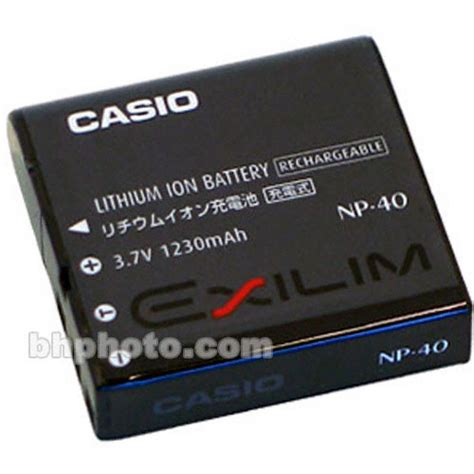 used casio np 40 lithium ion battery 3 7v 1230mah np 40 b h