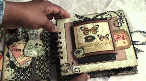 World Diy Photo Album Small Album Foto Kecil scrapbooking vintage paperbag mini album