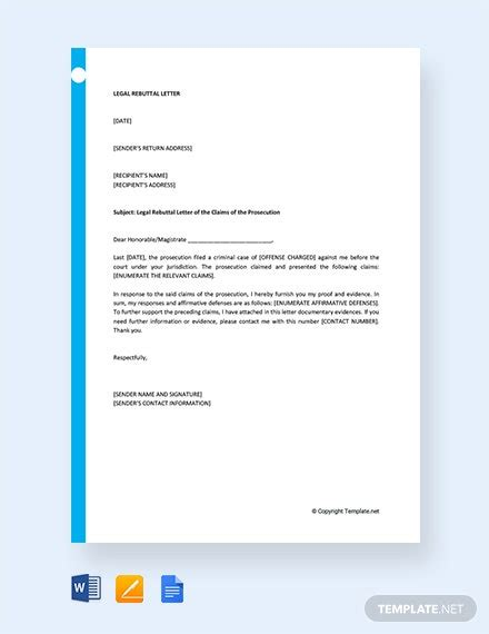 academic rebuttal letter template word google