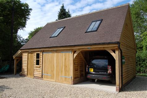 Oak Car Port by Timber Framed Garage And Carport Andrew Page Oak Garages