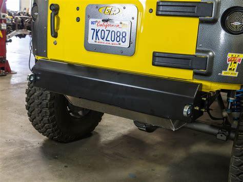 stubby jeep bumper jk fusion stubby rear bumper steel genright jeep parts