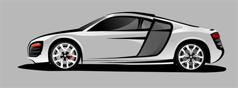 cartoon audi r8 audi r8 vector by moeenn on deviantart