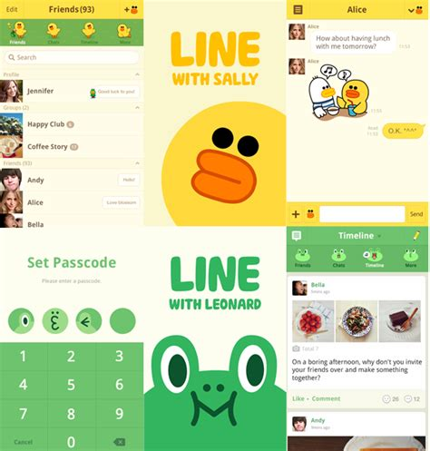 themes line new themes featuring line characters and other world famous