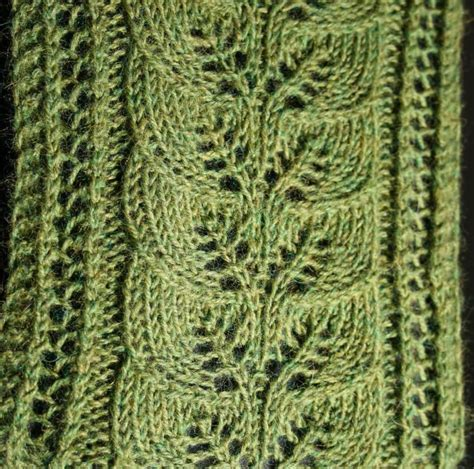 leaf pattern for knitting brooke s column of leaves knitted scarf pattern